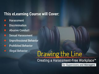 Drawing the Line&#153:  Preventing Harassment in the Workplace (CA Manager)  (eCourse)