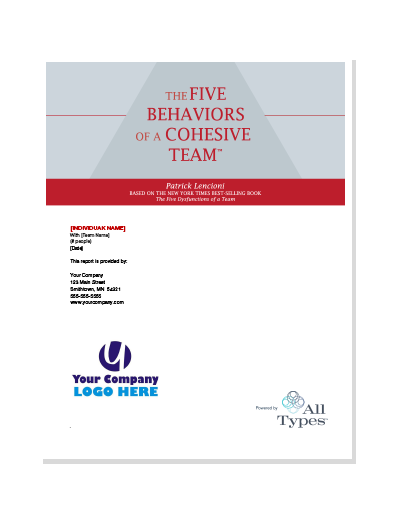 The Five Behaviors of a Cohesive Team™ Assessment (All Types™)