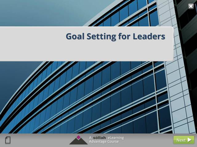 Goal Setting for Leaders (eCourse)