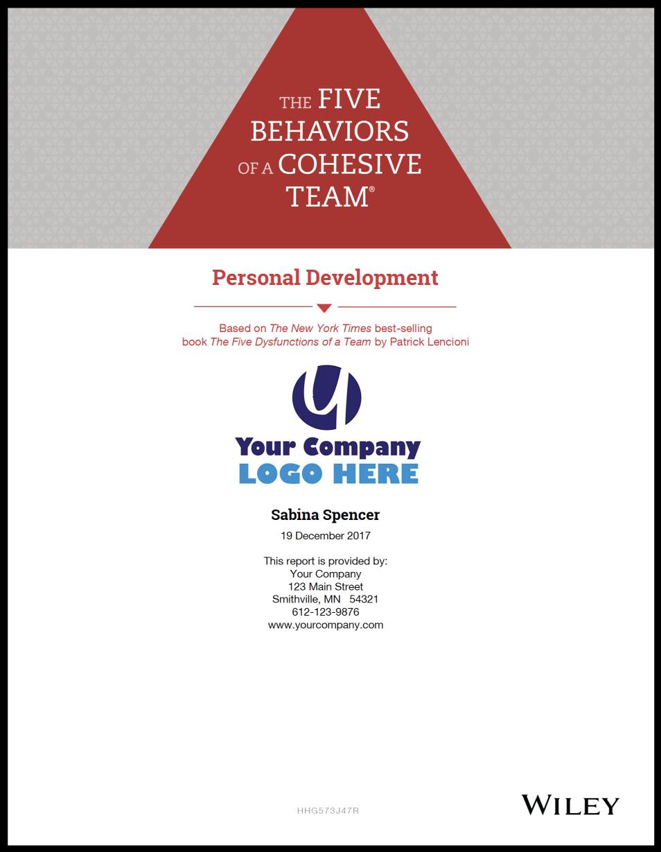The Five Behaviors™ Personal Development Assessment