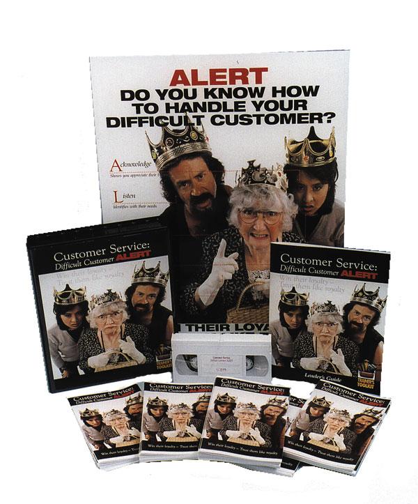 Customer Service: Difficult Customer ALERT -- Trainer's Toolkit (DVD)