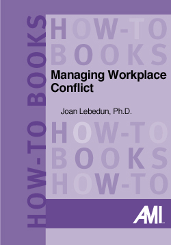 Managing Workplace Conflict (How-To Book)